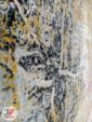 فرش مدرن ماشینی فانتزی طرح وینتیج زمینه بژ کرم و سبز کد 21-870
