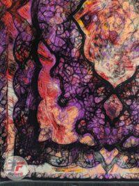نمای یک چهارم از فرش وینتیج گل برجسته 1200 شانه کد 21-863