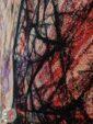 نمای نزدیک فرش ماشینی وینتیج مدرن گل برجسته کد 21-863