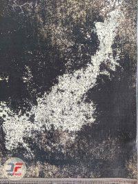 یک چهارم فرش کهنه نمای گل برجسته کد 12-818