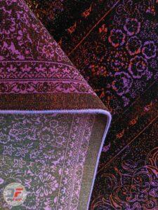 پشت فرش ماشینی مدرن و فانتزی طرح پتینه گل برجسته کد 21-827