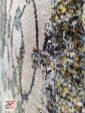 فرش مدرن طرح وینتیج گل برجسته ماشینی زمینه بژ کد 11-800