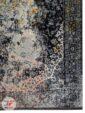 فرش ماشینی مدرن فانتزی طرح کهنه نما گل برجسته زمینه طوسی کرم کد 13-806