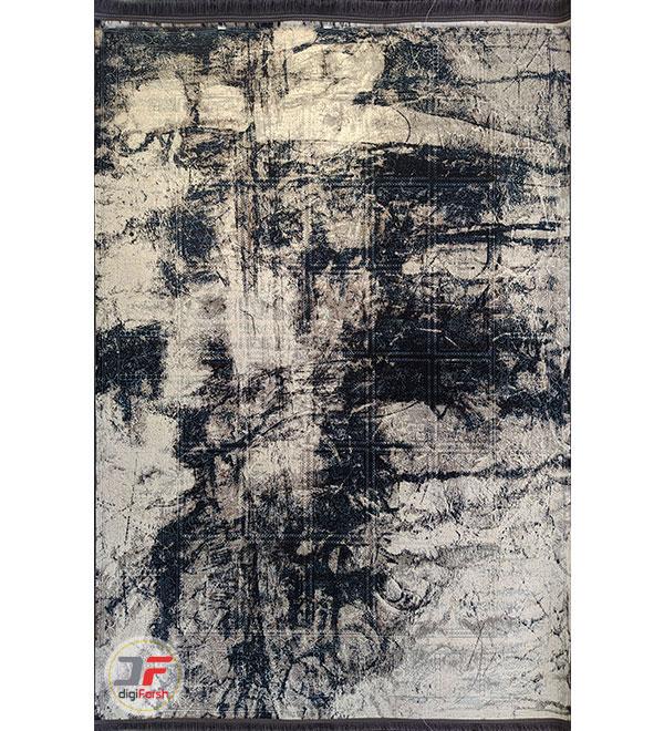 روی فرش ماشینی مدرن و فانتزی طرح وینتیج گل برجسته کد 12-829