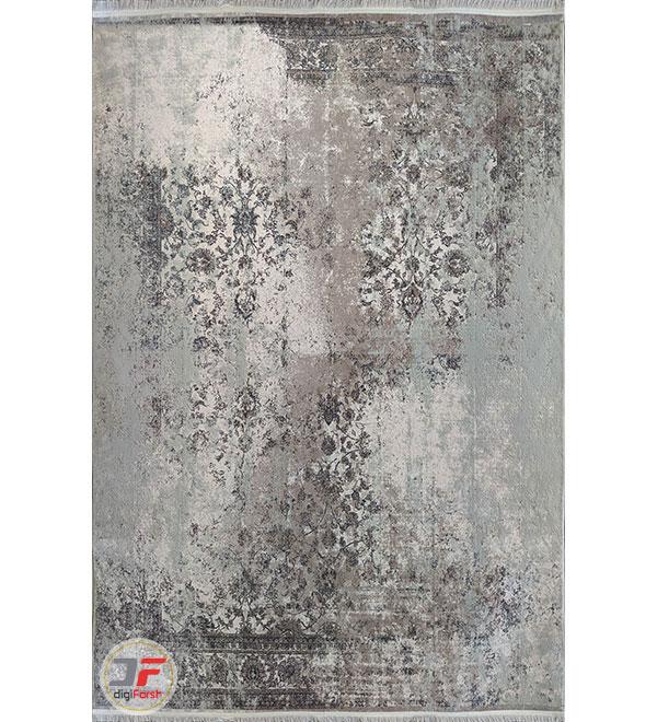 روی فرش ماشینی مدرن و فانتزی طرح پتینه گل برجسته کد 11-854