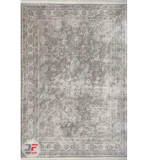 نمای کلی فرش طرح پتینه فانتزی زمینه طوسی کد 11-862