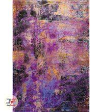 روی فرش فانتزی ماشینی طرح کهنه نمای گل برجسته کد 23-830
