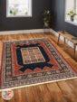 فرش سنتی زمینه لاکی کد 103 داخل دکوراسیون