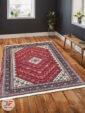 فرش سنتی زمینه لاکی کد 106 داخل دکوراسیون