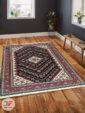 نمای دکوراسیون فرش ماشینی طرح سنتی زمینه مشکی کد 106