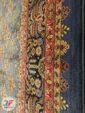 نمای حاشیه فرش ماشینی قشقایی زمینه آبی کد 104