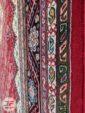 حاشیه فرش ماشینی قشقایی زمینه لاکی کد 106