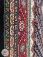 حاشیه فرش ماشینی دستباف گونه مشکی با کد 106