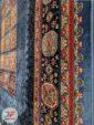 حاشیه فرش طرح گبه سنتی زمینه سرمه ای کد 103
