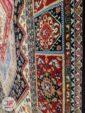 فرش طرح سنتی ماشینی با زمینه سرمه ای کد 105