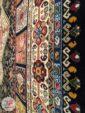 حاشیه فرش قشقایی زمینه مشکی کد 102