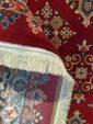 پشت فرش ماشینی طرح سنتی زمینه لاکی کد 104