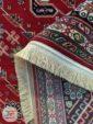 پشت فرش ماشینی طرح سنتی و دستباف زمینه لاکی کد 106