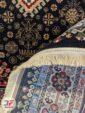 پشت فرش ماشینی سنتی زمینه مشکی کد 102