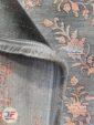 پشت و روی فرش ماشینی وینتیج فانتزی گل برجسته مشکی زرشکی کد 44