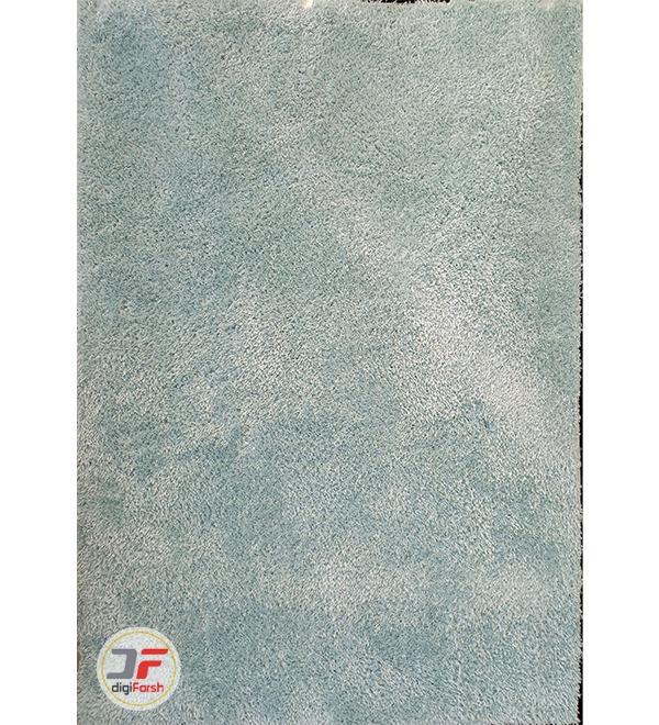 فرش مدرن شگی فلوکاتی آبی کد 01