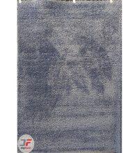 فرش ماشینی مدرن و فانتزی پرزبلند (فلوکاتی) زمینه اطلسی (سرمه ای) کد 03