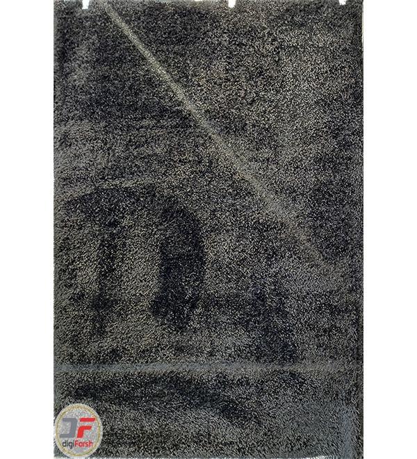 فرش مدرن ماشینی فلوکاتی (شگی) زمینه دودی کد 05