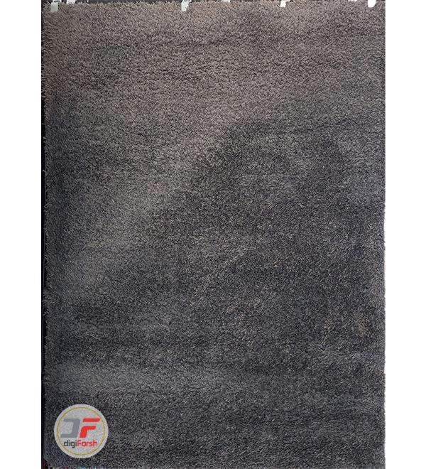 فرش مدرن ماشینی فلوکاتی (پرزبلند) زمینه مشکی کد 10