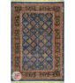 روی فرش سنتی طرح گبه زمینه آبی کد 104