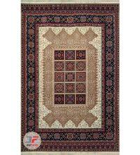 عکس کامل فرش ماشینی سنتی طرح قشقایی کد 103 زمینه بژ