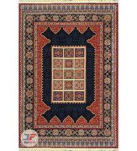 نمای کامل فرش ماشینی سنتی زمینه لاکی کد 103