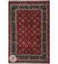 نمای کلی فرش سنتی زمینه لاکی کد 104