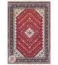 روی فرش ماشینی سنتی زمینه لاکی کد 106
