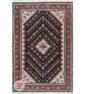 نمای کلی فرش ماشینی سنتی زمینه مشکی کد 106