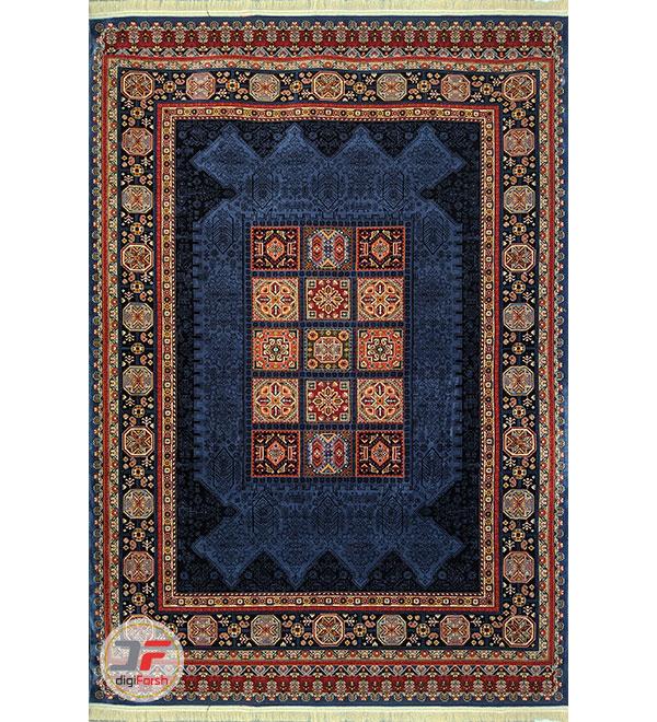 تمام فرش سنتی زمینه سرمه ای کد 103