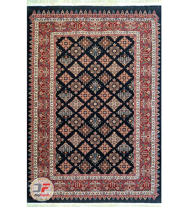 روی فرش ماشینی طرح سنتی کد 104 سرمه ای