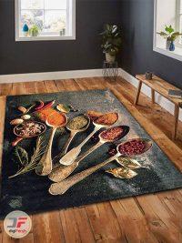 دکور فرش ماشینی آشپزخانه طرح سه بعدی کد 091