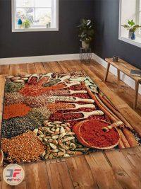 نمای داخل دکور فرش ماشینی آشپزخانه طرح سه بعدی کد 094