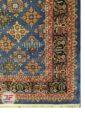 یک چهارم فرش ماشینی طرح سنتی زمینه آبی کد 104