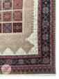 یک چهارم فرش ماشینی سنتی زمینه بژ کد 103
