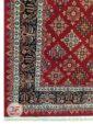 یک چهارم فرش سنتی زمینه لاکی کد 104