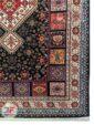 نمای یک چهارم فرش طرح دستباف قشقایی کد 102