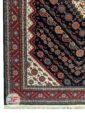 یک چهارم فرش ماشینی طرح دستباف مشکی کد 106