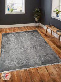 فرش ماشینی طرح پیتنه فانتزی گل برجسته کد 25