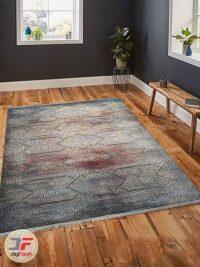 نمای دکور فرش ماشینی مدرن و فانتزی طرح پتینه گل برجسته کد 120