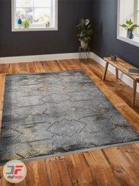 دکور فرش ماشینی مدرن و فانتزی طرح کهنه نما گل برجسته کد 125