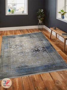 نمای دکور فرش ماشینی مدرن طرح پتینه گل برجسته کد 8001