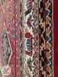 حاشیه فرش طرح قشقایی ماشینی زمینه لاکی کد 111