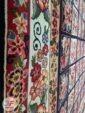 حاشیه فرش ماشینی طرح گبه زمینه سرمه ای کد 109