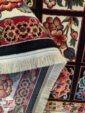 نمای پشت فرش ماشینی طرح سنتی و گبه زمینه سرمه ای کد 109